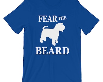 Fear The Beard T-Shirt, Schnauzer Dog Tee Shirt, Funny Dog Schnauzer Meme Tees, Ideal Gift for Dog Lovers and Owner Shirt