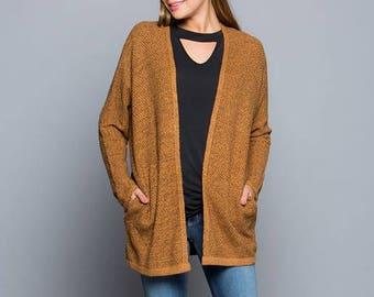 Marled Knit Sweater Cardigan!