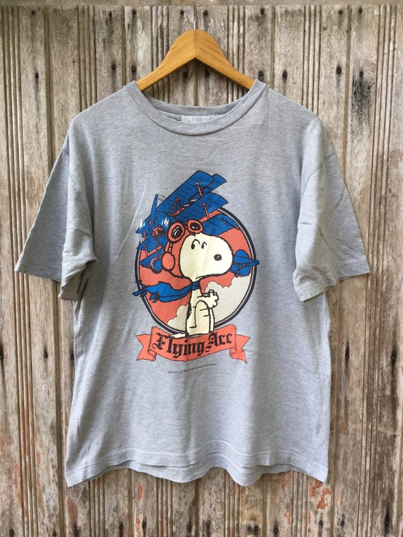 Vintage Snoopy Flying Ace Tees Shirt
