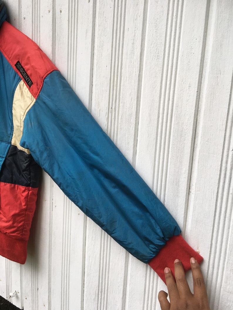 Vintage Descente Scrum-Q Special Team Wool Multicolour Jacket Size Large
