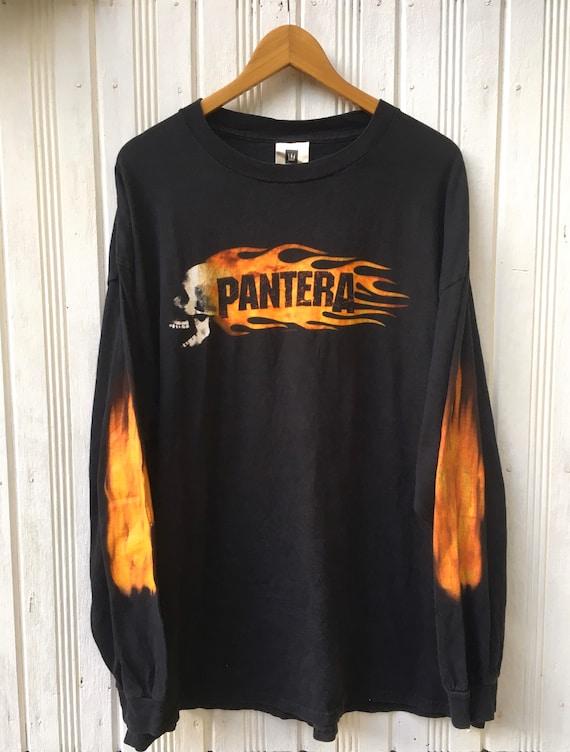 Vintage Pantera Flame Head  Longsleeve Tees Shirt
