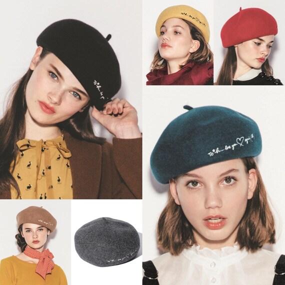 Agnes B Beret Wool Cap - image 7