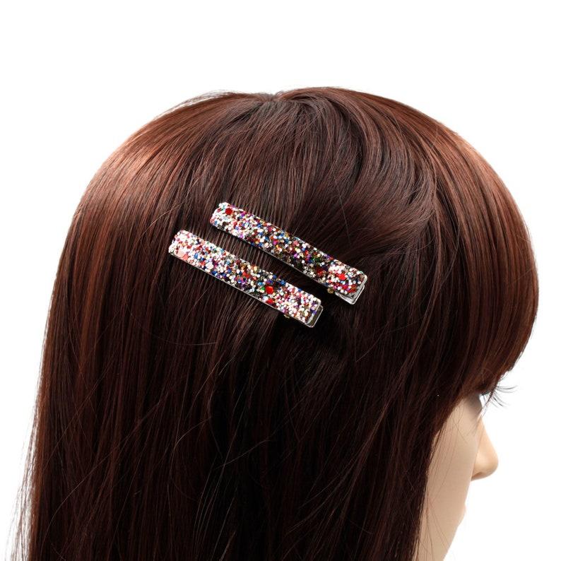 Rougecaramel Lot of 2 Glitter hair pinch 6cm