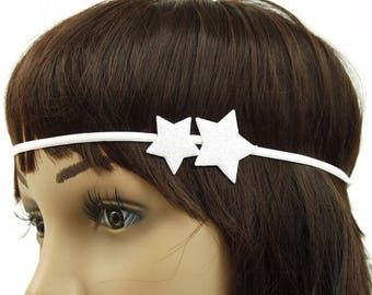 Headband star headband hair accessory - snow white glitter