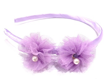 Headband child rustle - purple