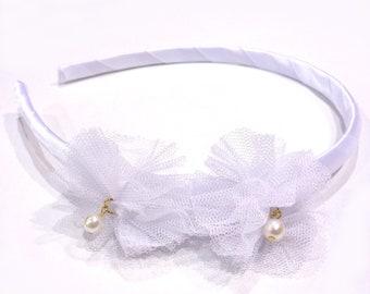 Headband child rustle - white