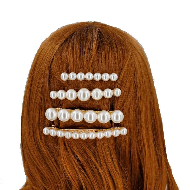 Barrette hair sequins oval 9.5cm Rougecaramel