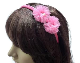 Headband child rustle - fuchsia