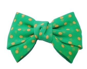 Hair bow - neon green