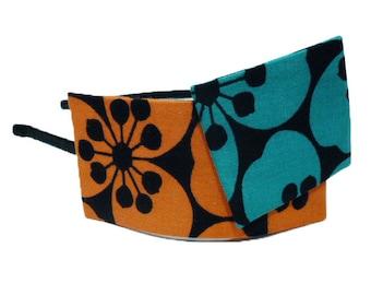 Headband flat bi-color - orange/blue