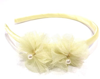 Headband child rustle - yellow