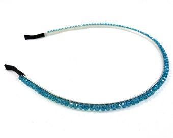 Simple beaded head - blue