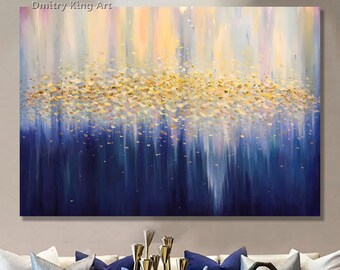 b518dbe6041 Large Abstract Golden Oil Painting