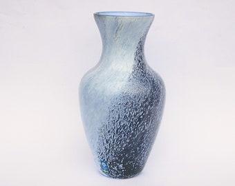 Swedish Bergdala glass vase, designed Gaby Stenberg mid eighties, labelled Scandinavian glass, 9 inches high