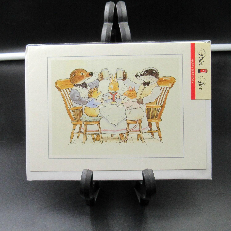 Vintage New In Package Pillar Box Foxwood Tales Birthday Card SBR8