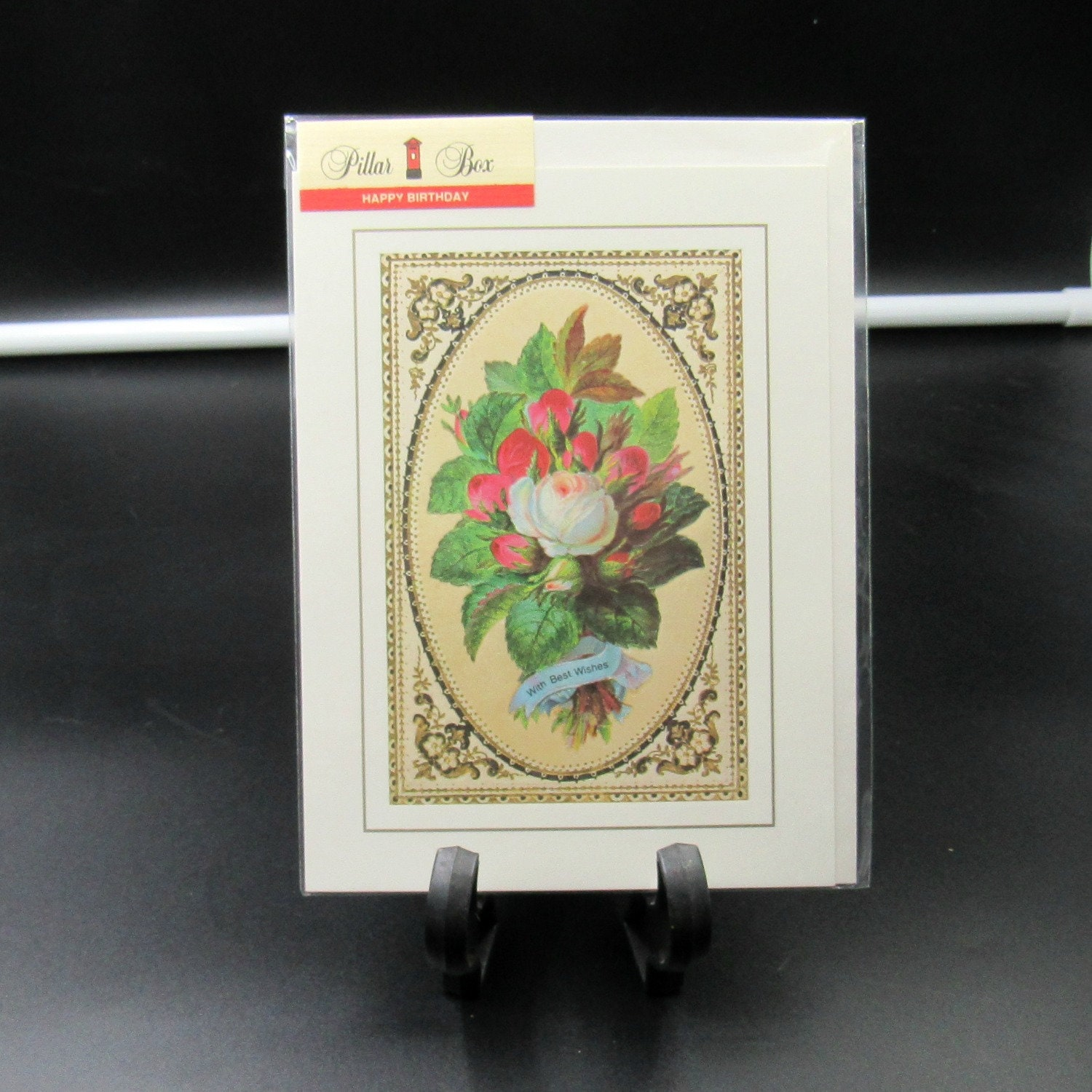 Vintage New In Package Pillar Box Victorian Reproduction Birthday Card SBR9