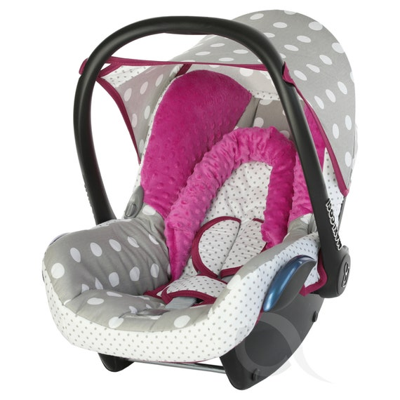 Replacement Seat Cover fits Maxi Cosi CabrioFix 0 FULL SET baby pink//grey