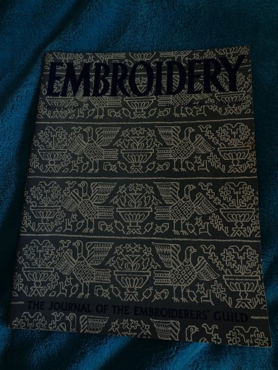 Embroidery - The Journal of the Embroiderers' Guild  Summer 1952 edition   Contains a range of articles, instructions, designs, adverts etc