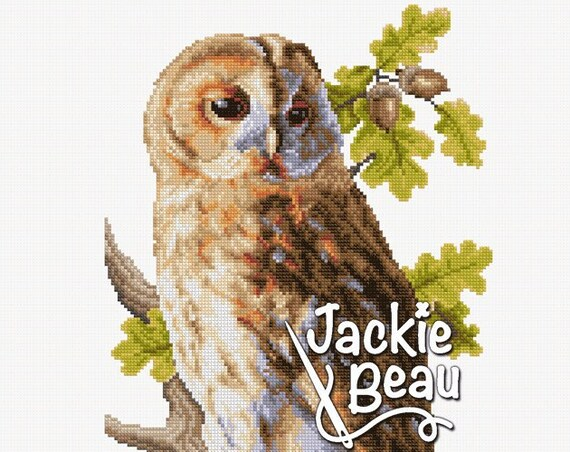 "Cross-stitch pattern ""Tawny owl"""
