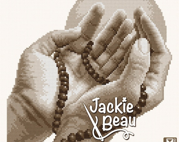 "Cross-stitch pattern ""Praying hands ll"""