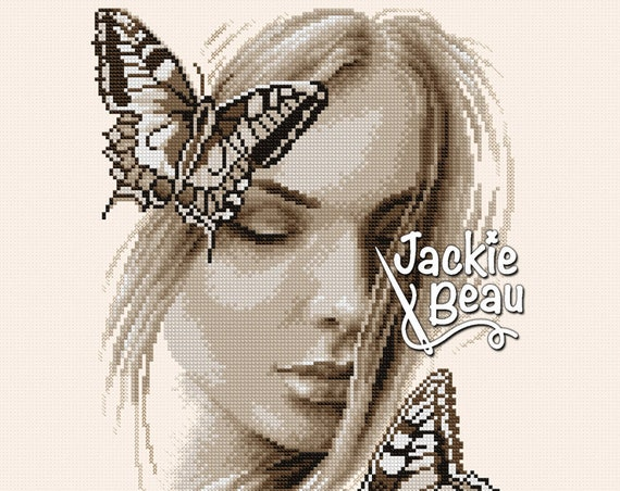 "Cross-stitch pattern ""Awakening butterfly"""