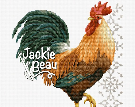 "Cross-stitch pattern ""Proud rooster"""