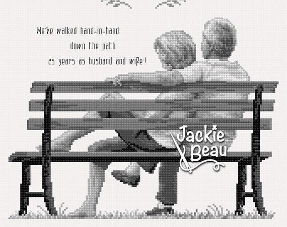 "Cross-stitch pattern ""Anniversary"" by Jackie Beau - pdf download"