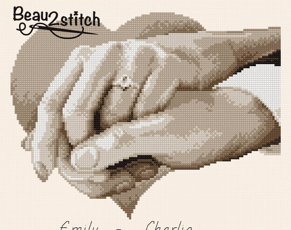 "Cross-stitch pattern ""Ring of love"" PDF"