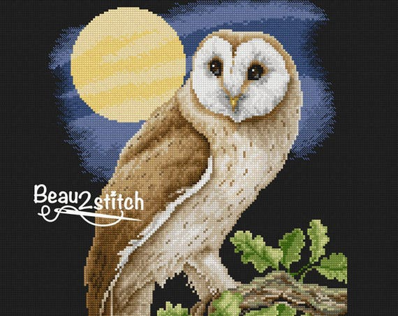 "Cross-stitch pattern ""Barn owl"""