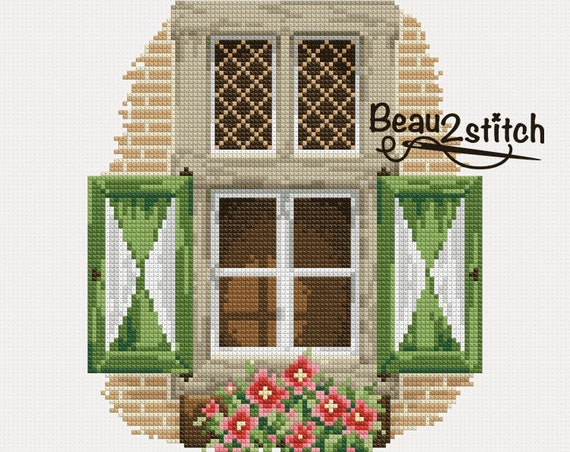 "Cross stitch pattern ""Classic window"" PDF"