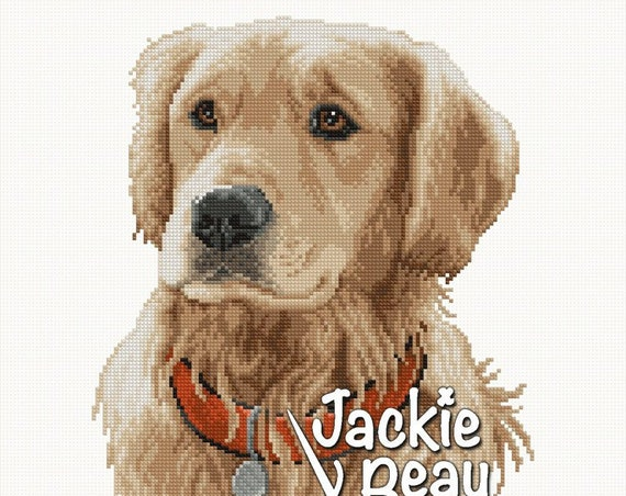 "Cross-stitch pattern ""Golden Retriever"""