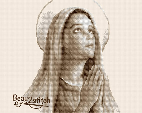 "Cross stitch pattern ""Virgin Mary"" PDF"