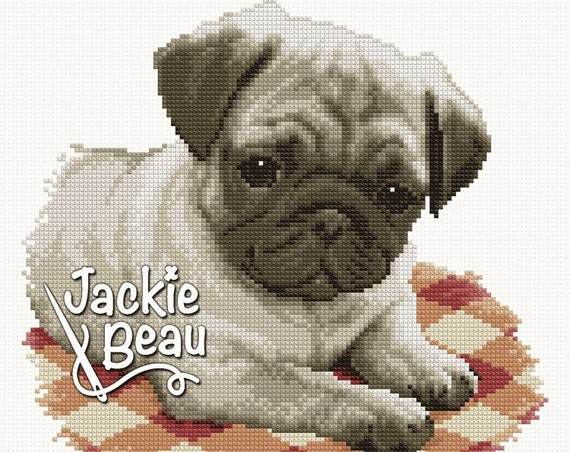 "Cross-stitch pattern ""Pug dog"""