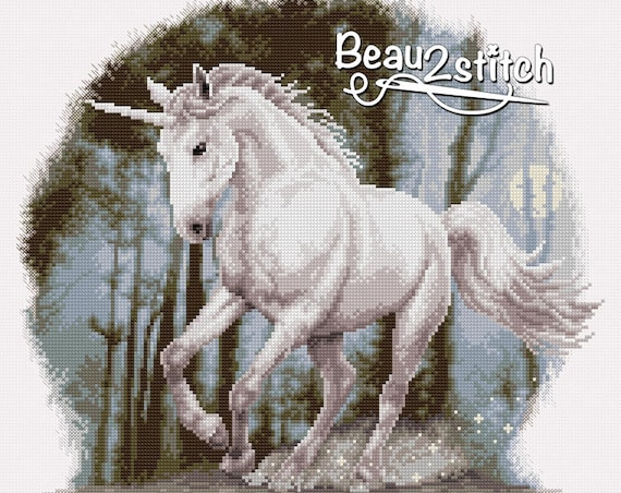 "Cross-stitch pattern ""Unicorn"""