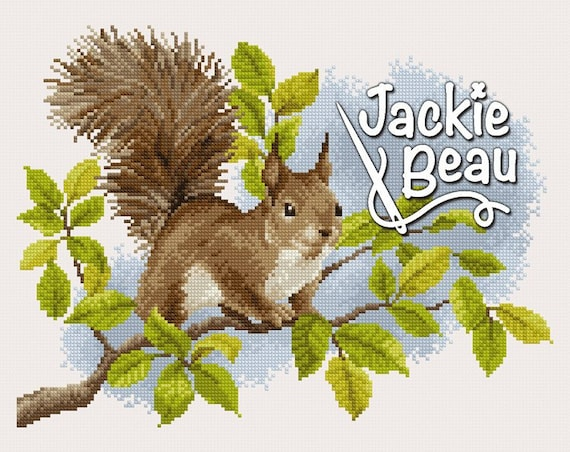 "Cross-stitch pattern ""Squirrel"""