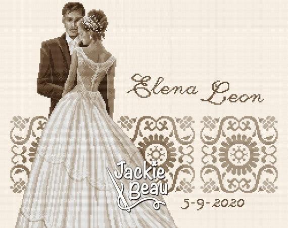 "Cross-stitch pattern ""Wedding"" PDF"