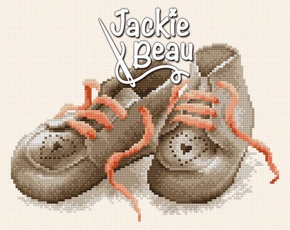 "Cross-stitch pattern ""Little shoes"" by Jackie Beau - pdf download"