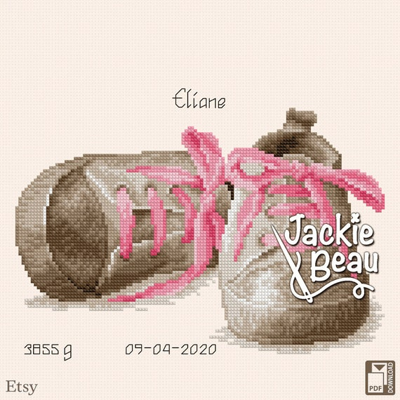 "Cross-stitch pattern ""Sparkling shoes"""