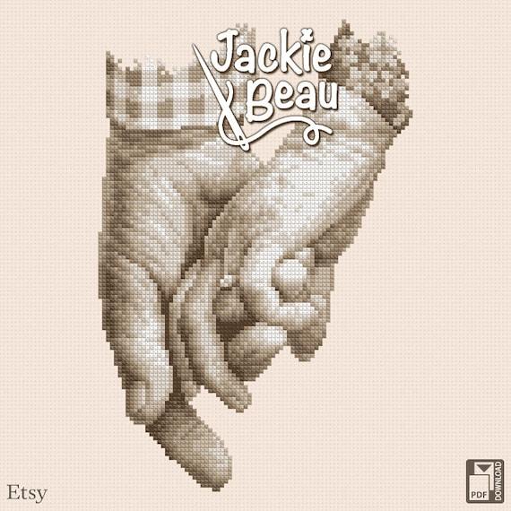 "Cross stitch pattern ""Senior love"" by Jackie Beau - pdf download"