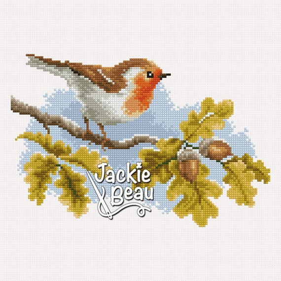 "Cross-stitch pattern ""Robin"" PDF"