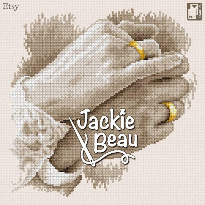 Cross-stitch pattern Wedding rings by Jackie Beau image 0