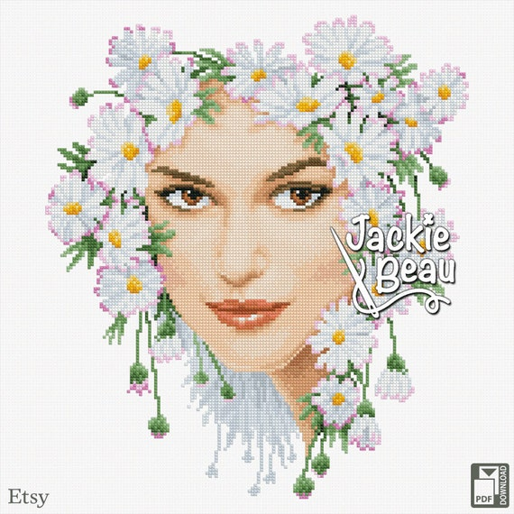 "Cross-stitch pattern ""Daisy girl"""