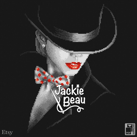 "Cross-stitch pattern ""Lady Noire"" by Jackie Beau - pdf download"