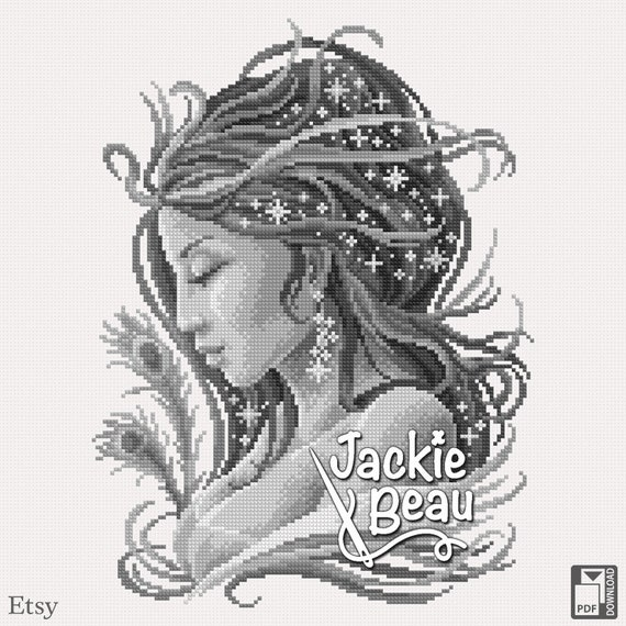 "Cross Stitch Pattern ""Mystical Mistress"" by Jackie Beau - PDF Pattern"
