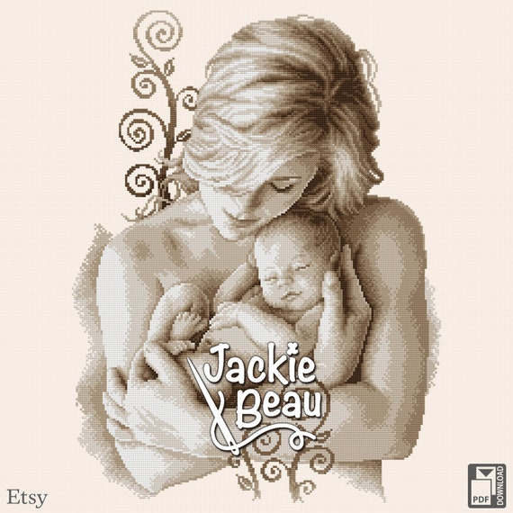 "Cross-stitch pattern ""Motherhood"" by Jackie Beau - pdf-download"