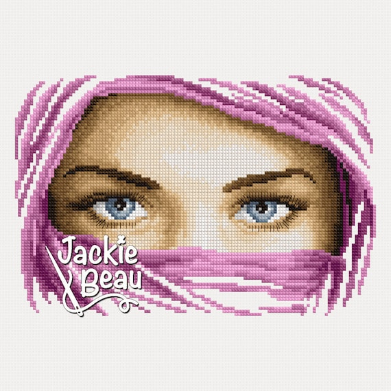 "Cross-stitch pattern ""Blue eyes"""