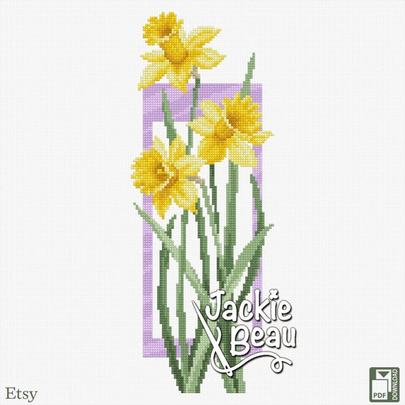 "Cross-stitch pattern ""Daffodils"""