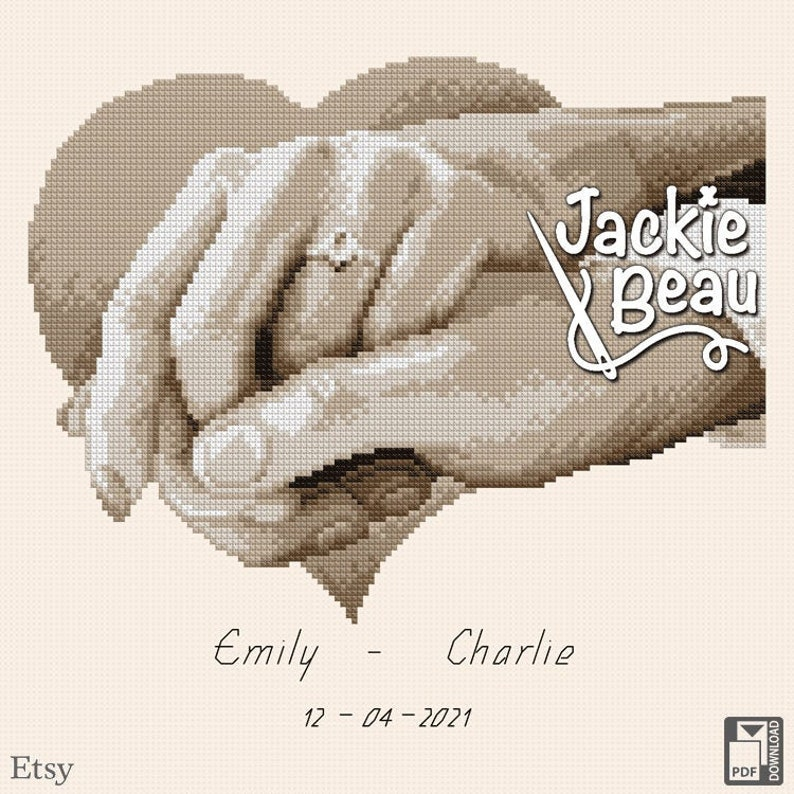 Cross-stitch pattern Ring of love by Jackie Beau  image 0