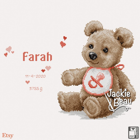 "Cross-stitch pattern ""Teddy Bear"""