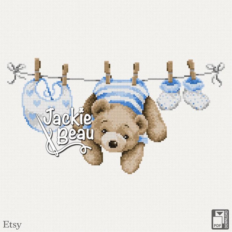 Cross-stitch pattern The clothesline by Jackie image 0